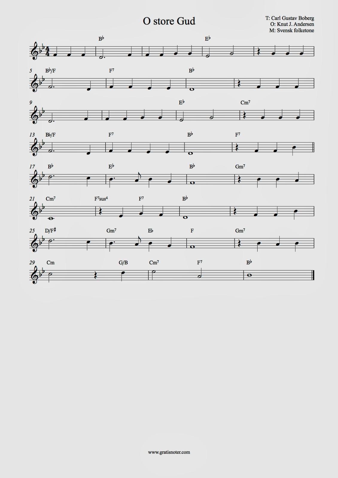 de små synger akkorder